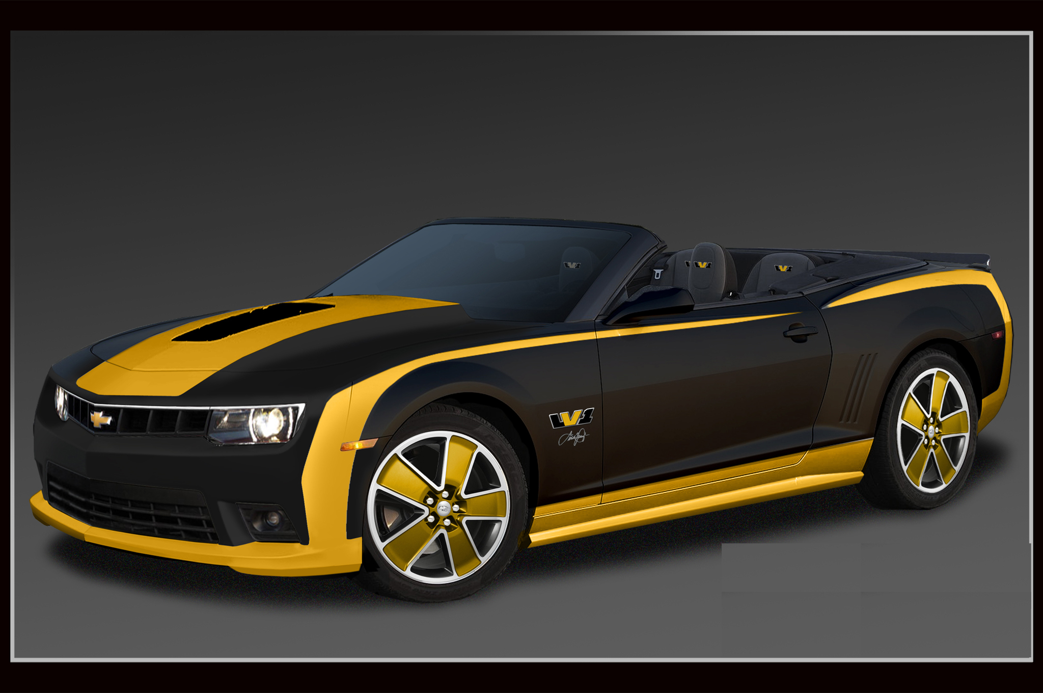 2014 chevrolet camaro black gold. Cars Review. Best American Auto & Cars Review