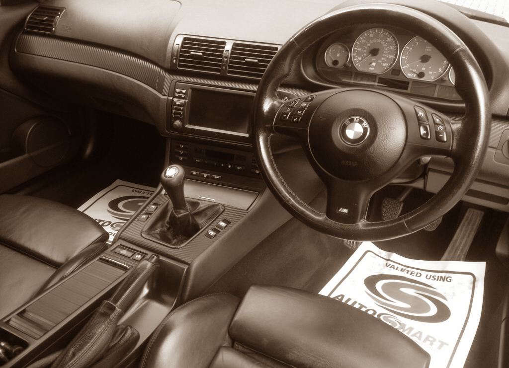 e46 m3 interior valet bw
